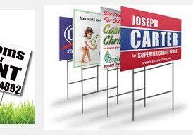Standard Yard Signs – Full Color – Big Discounts with Quantity