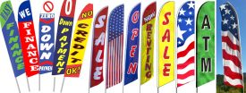 Pre Printed In Stock Feather Flags