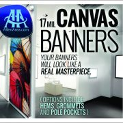 Canvas 17mil Banners