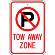 No Parking Symbol, Tow Away Zone Sign