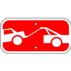 Tow-Away Zone Symbol Sign
