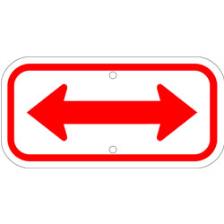 Double Arrow Sign, Red