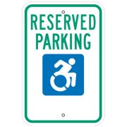 Reserved Parking, with Handicap Symbol Sign (New York)