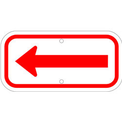 Arrow Sign, Red