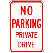 No Parking Private Drive Sign