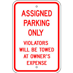 Assigned Parking Only Sign