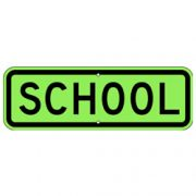 School Sign – Fluorescent Yellow Green